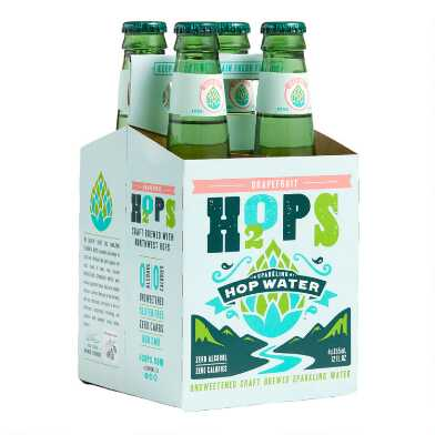 H2OPS Grapefruit Sparkling Hop Water 4 Pack