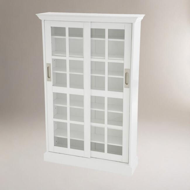 White Sliding Door Storage Cabinet World Market
