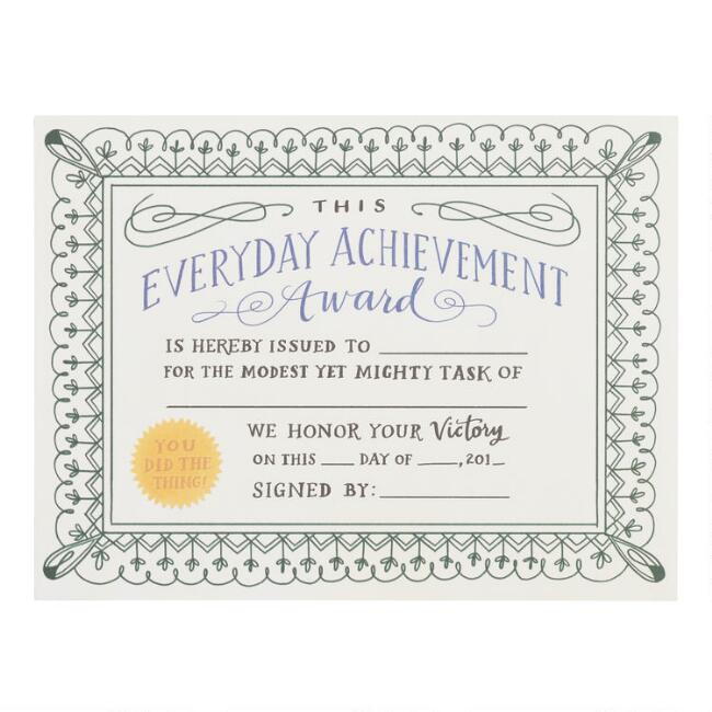 Everyday Achievement Award Fill-in Notepad