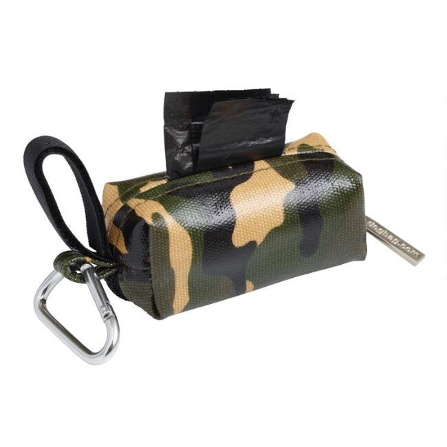 Camo Dog Poop Bag Dispenser with Bags