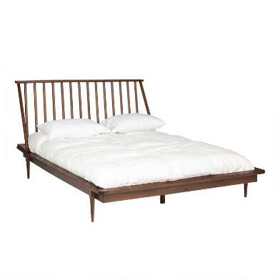 Pine Wood Spindle Archer Bed