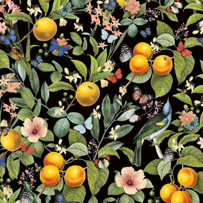 Citrus Garden Peel And Stick Wallpaper