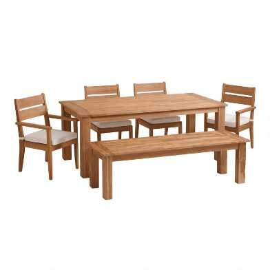 Natural Teak Calero Outdoor Dining Collection