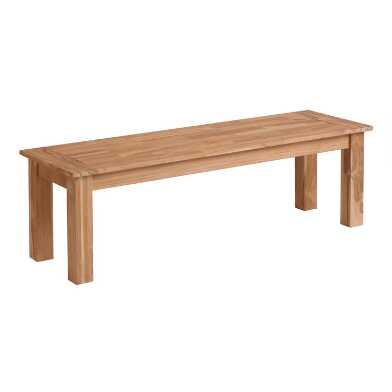 Natural Teak Calero Outdoor Dining Bench