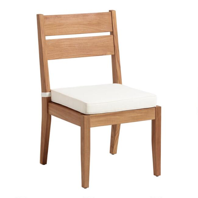 Natural Teak Calero Outdoor Dining Chairs World Market