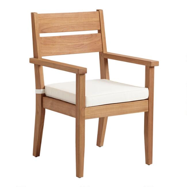 Natural Teak Calero Outdoor Dining Armchair