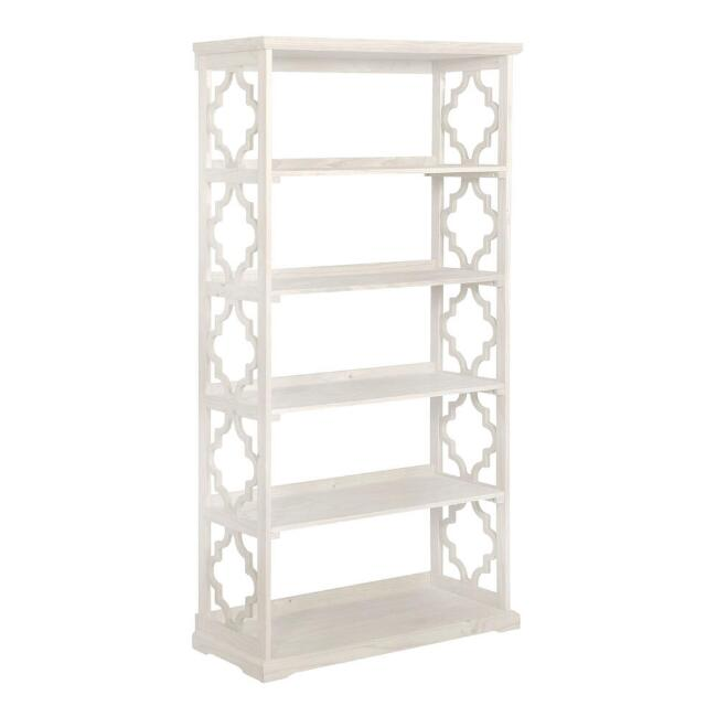 Tall Wood Quatrefoil Abbey Bookshelf