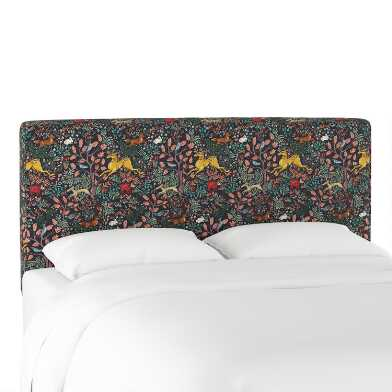 Navy Forest Frolic Loran Upholstered Headboard