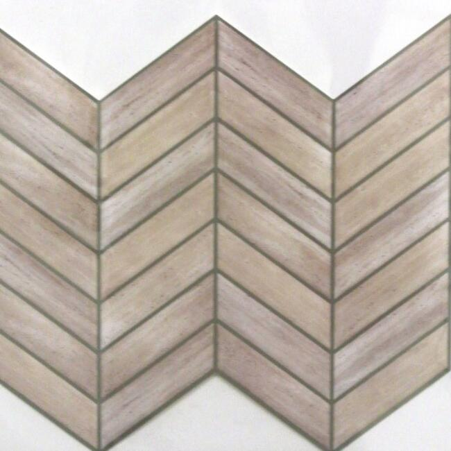 Distressed Wood Chevron Peel and Stick Tiles