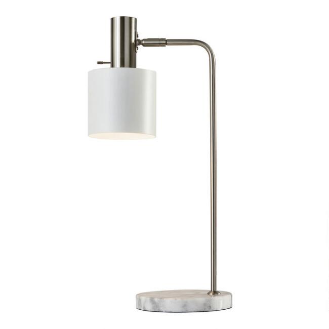 Marble and Steel Adjustable Martin Task Lamp