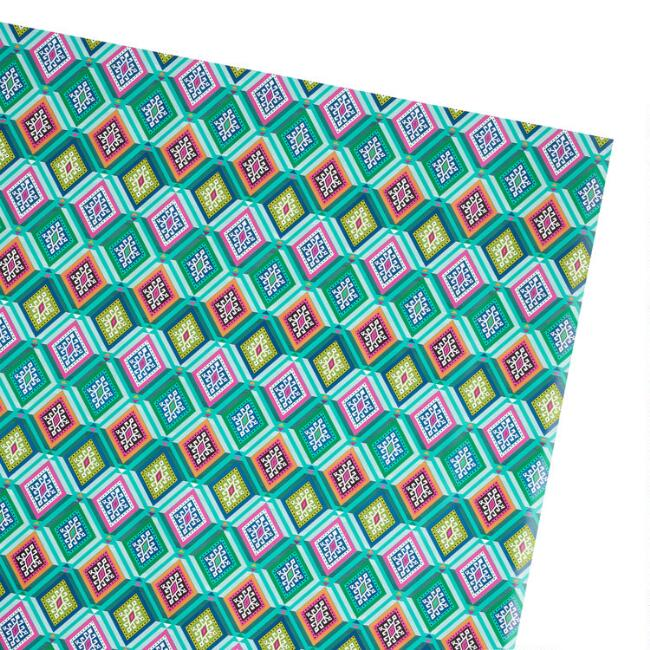 Multicolored Boho Diamond Wrapping Paper Roll