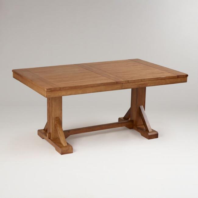 Antique Honey Verona Trestle Table