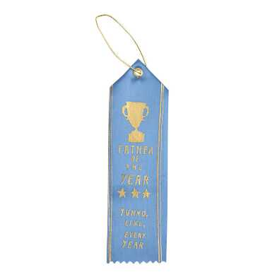 Blue and Gold Father of the Year Award Ribbon