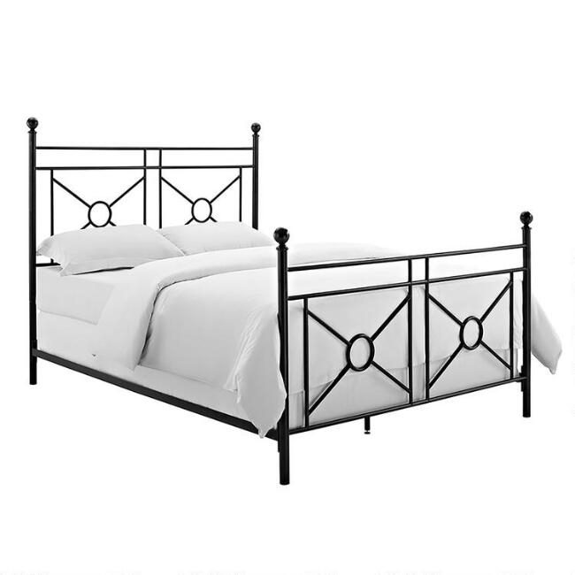 Black Steel Geo Shane Headboard and Footboard