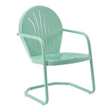 Metal Mid Century Durresi Outdoor Chair
