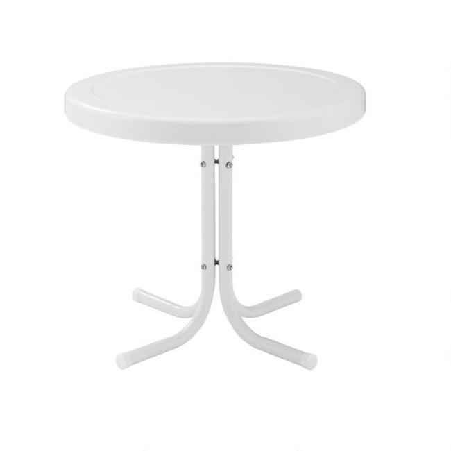 Metal Mid Century Durresi Outdoor Accent Table
