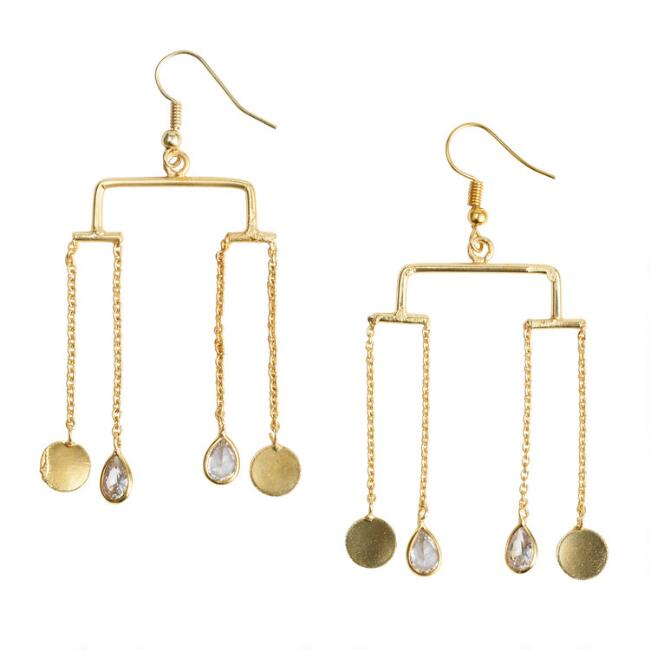 Gold Mobile Dangle Earrings