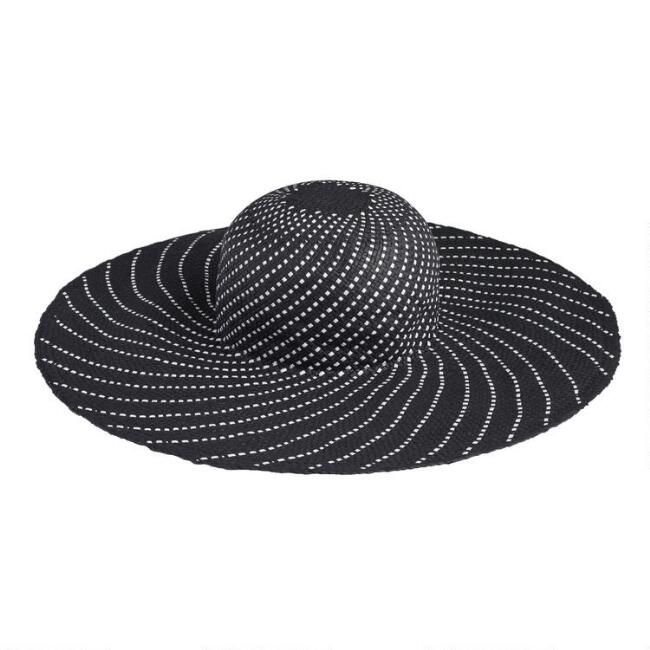 Black and White Whirl Sun Hat