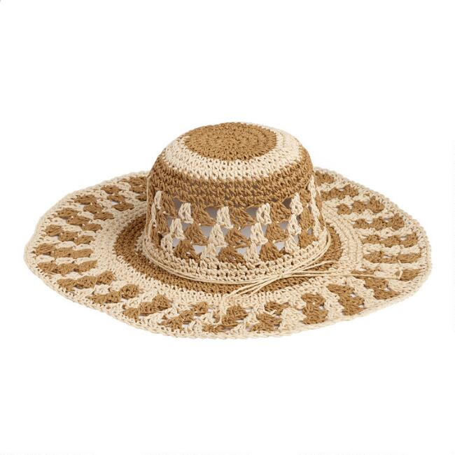 Brown and Natural Sun Hat