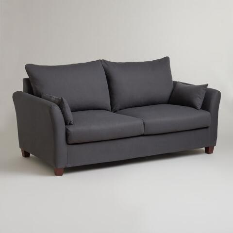 Charcoal Luxe Sofa Slipcover | World Market