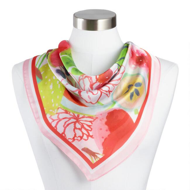 Multicolor Fruit Kerchief Scarf