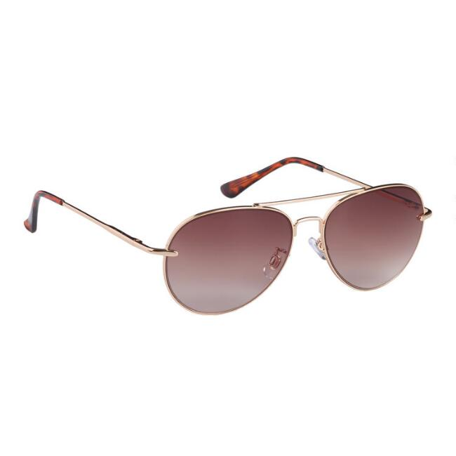 Gold Wire Aviator Kelsey Sunglasses