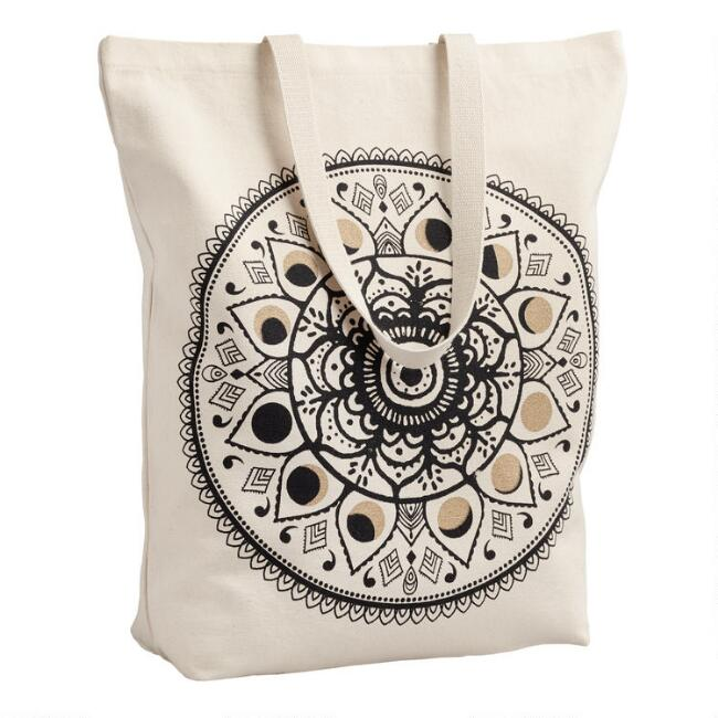 Moon Phases Canvas Tote Bag