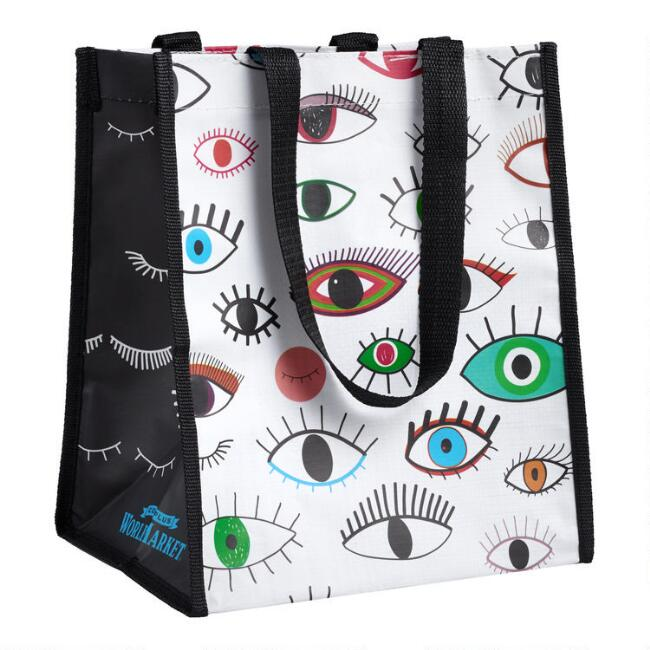 Small Multicolor Eyes Tote Bags Set of 2