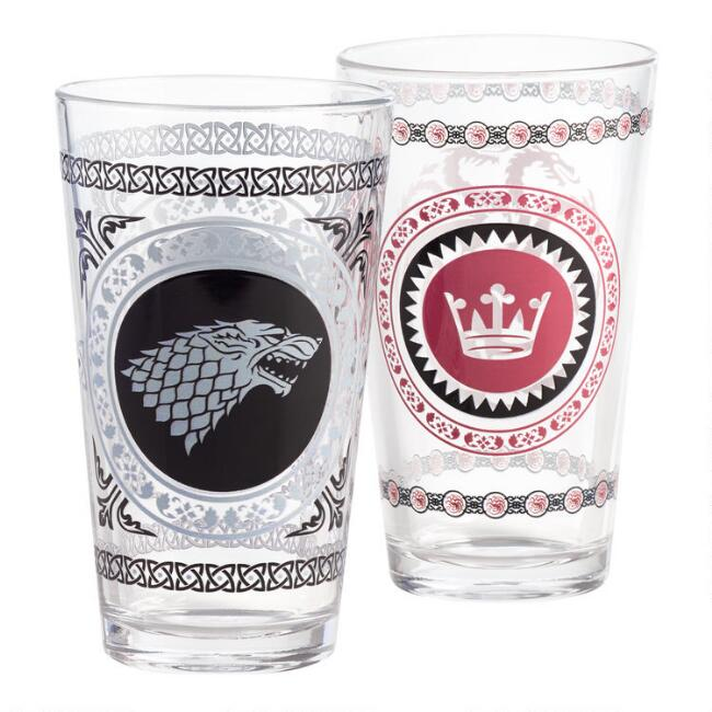 Game of Thrones Pub Glasses Set of 2