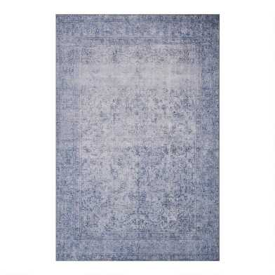 Slate Blue Distressed Presley Area Rug