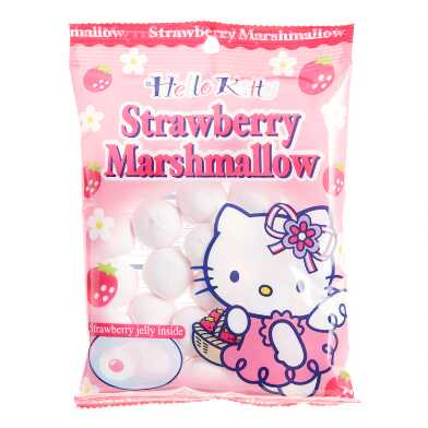 Hello Kitty Strawberry Marshmallows Set of 6