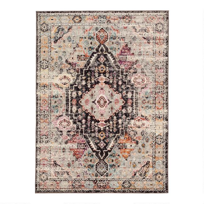 Brown and Pink Medallion Jayde Indoor Outdoor Rug
