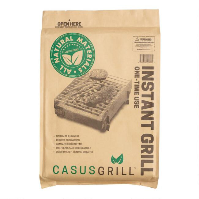 CasusGrill Bamboo Biodegradable Instant Grill
