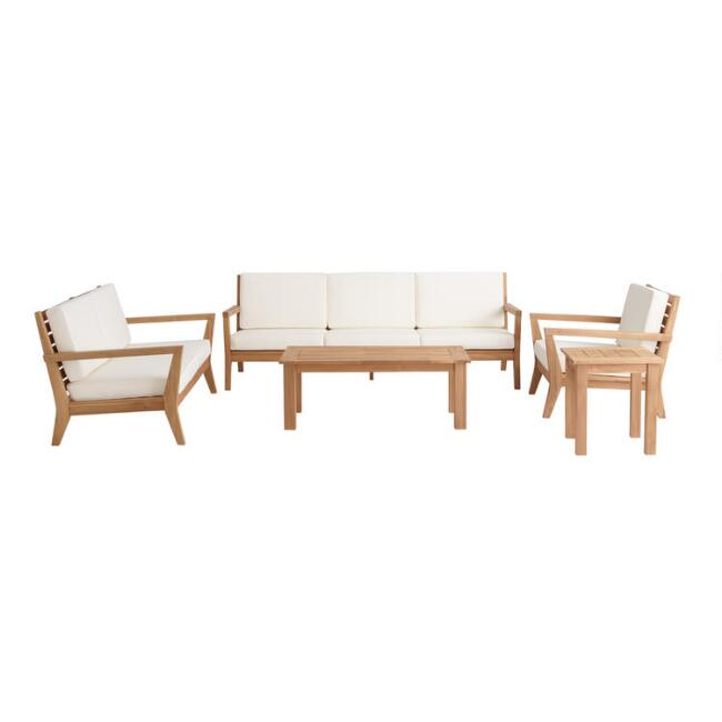 Natural Teak Calero Outdoor Occasional Collection