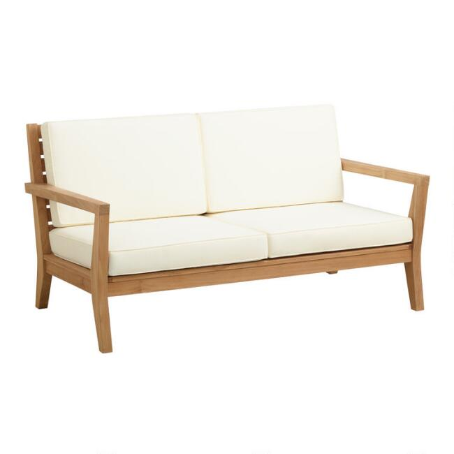 Natural Teak Calero Outdoor Occasional Bench
