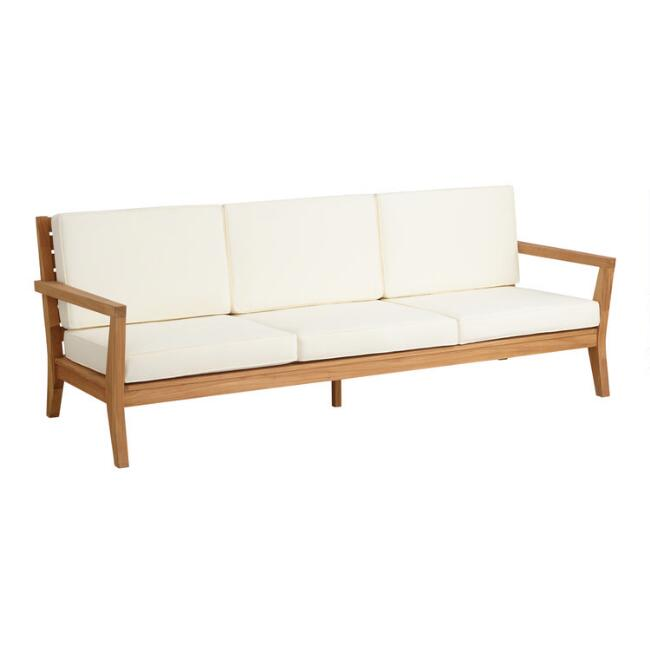 Natural Teak Calero 3 Seater Outdoor Occasional Bench