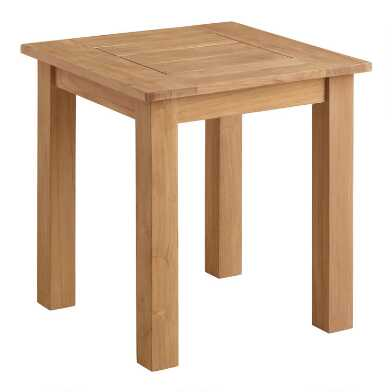 Natural Teak Calero Outdoor Accent Table