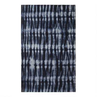 Navy Blue Tie Dye Nightshade Area Rug