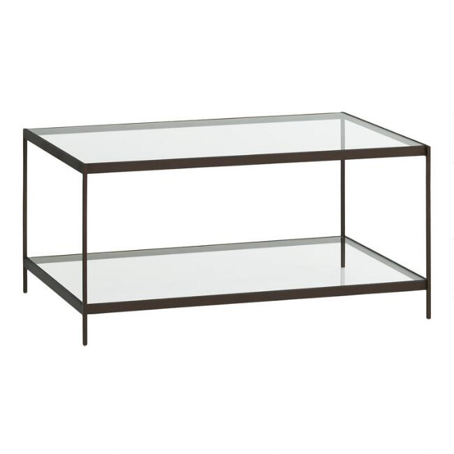 Glass and Metal Baruch Coffee Table