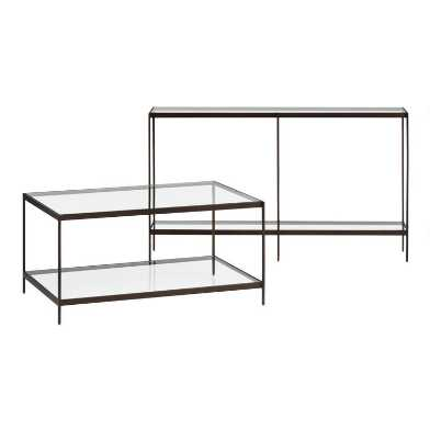 Glass and Metal Baruch Table Collection
