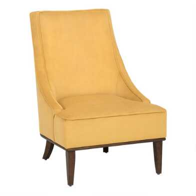 Velvet Slope Arm Seth Upholstered Chair