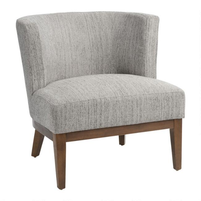 Gray Tweed Curved Back Jaden Chair