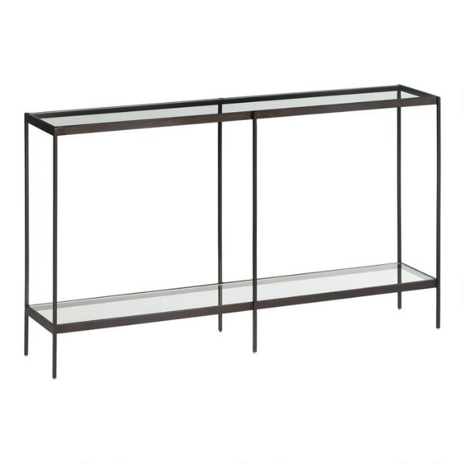 Glass and Metal Baruch Console Table