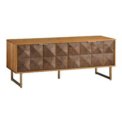 Two Tone Wood Diamond Rouvin Media Cabinet