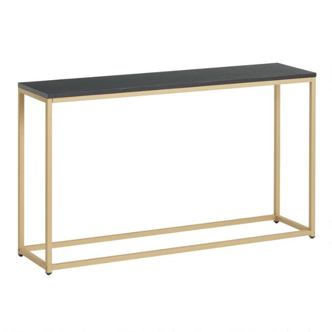 Black and Gold Alan Console Table