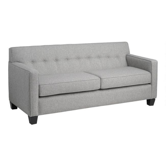 Gray Tweed Tufted Jasper Sofa