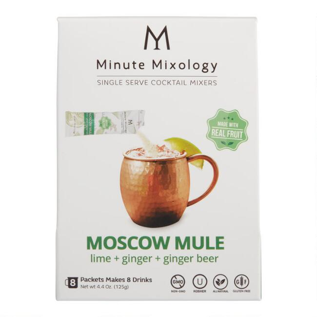 Minute Mixology Moscow Mule Cocktail Mixer 8 Pack