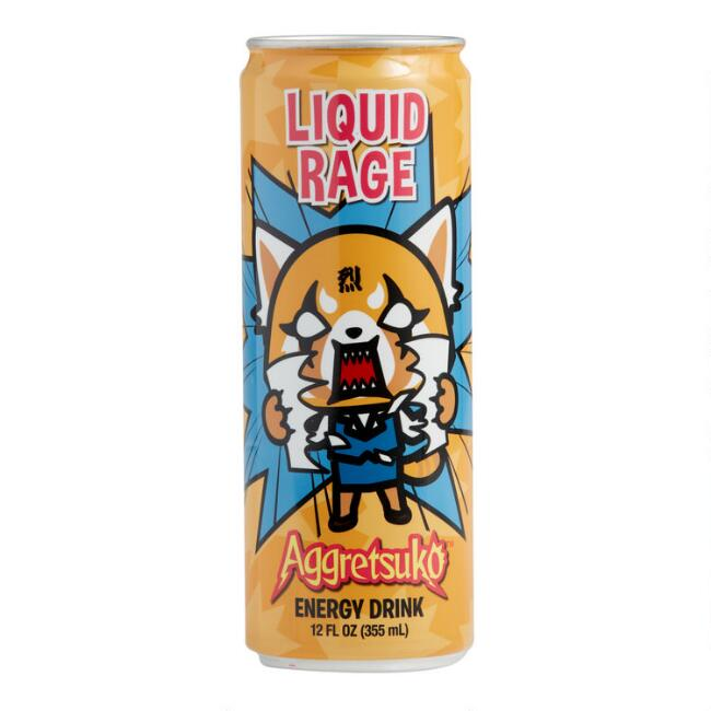 Aggretsuko Liquid Rage Energy Drink Set of 12