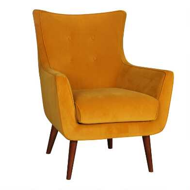 Gold Damon Upholstered Chair