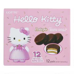 Lotte Hello Kitty Milk Chocolate Lottepie 12 Pack